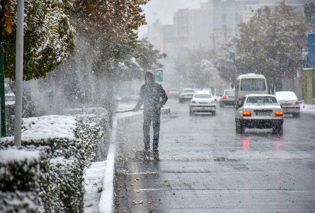 هشدار مدیریت بحران برای خسارات آبگرفتگی بارش برف و کولاک و کاهش دما