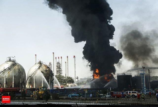 تداوم عملیات اطفا آتشسوزی پالایشگاه تهران تا شب