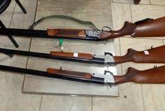 کشف 3 قبضه سلاح شکاری غیرمجاز