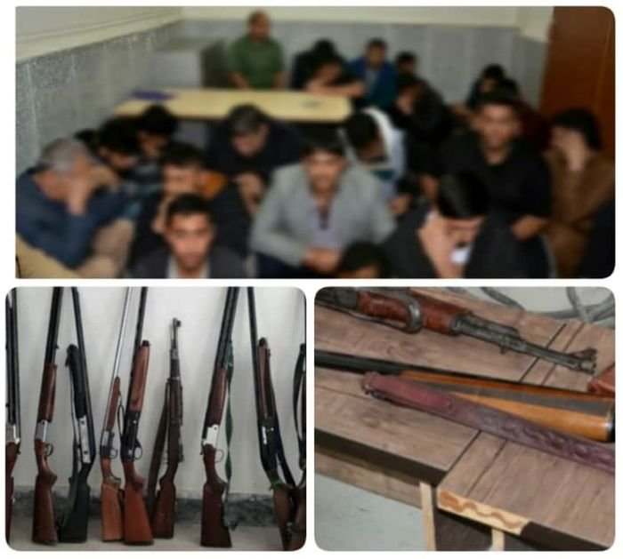 دستگیری ۲۹ متهم و کشف ۲۷ قبضه سلاح و مهمات در آبادان