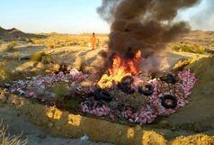 کشف و معدوم سازی بیش از 7تن گوشت مرغ فاسد در ایرانشهر
