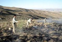 مهار آتش سوزی در منطقه حفاظت شده انگوران