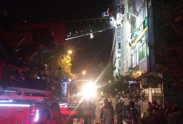 آتش سوزی در حوالی دانشگاه تهران+فیلم