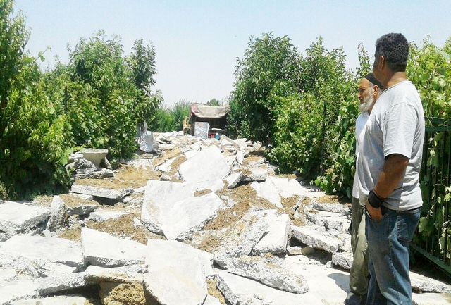 تخریب و آزادسازی 311هزارمترمربع از اراضی کشاورزی در قدس