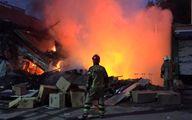 آوار شدن یک ساختمان ۲ طبقه در جنوب تهران/ نجات جان ساکنان لحظاتی پیش از تخریب