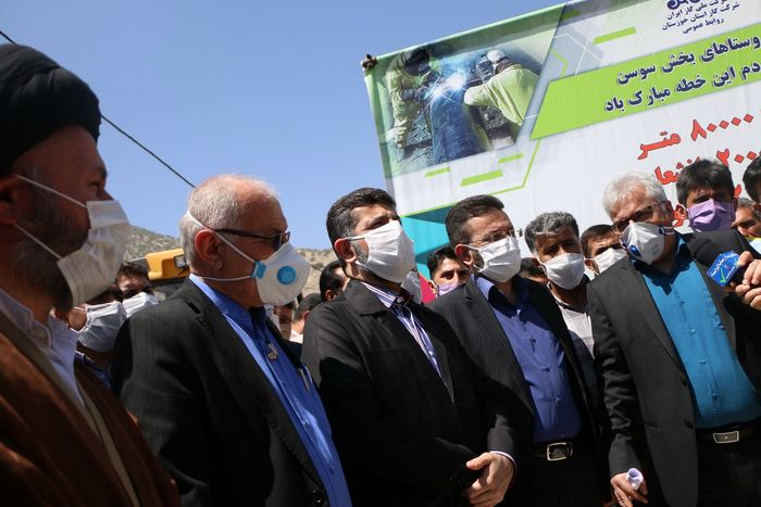 آغاز پروژه گاز رسانی به بخش سوسن شهرستان ایذه