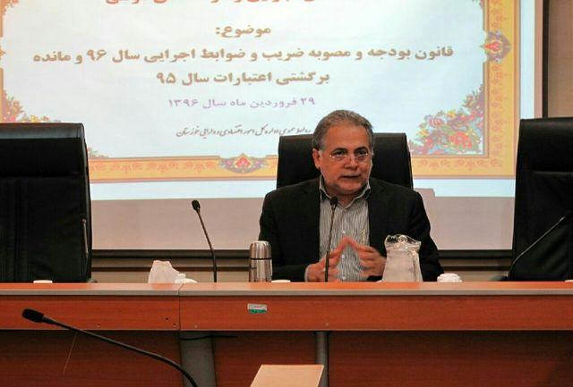 افزایش 12 درصدی اعتبارات تملک دارایی های سرمایه ای خوزستان در سال 96 نسبت به سال گذشته
