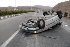 مرگ راننده در حادثه واژگونی خودروی سواری