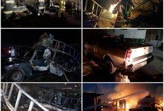 انفجاز سیلندر گاز مایع در مرکز غیرمجاز در اسلامشهر
