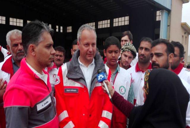 حضور نماینده صلیب سرخ آلمان در اهواز برای کمک به سیل زدگان