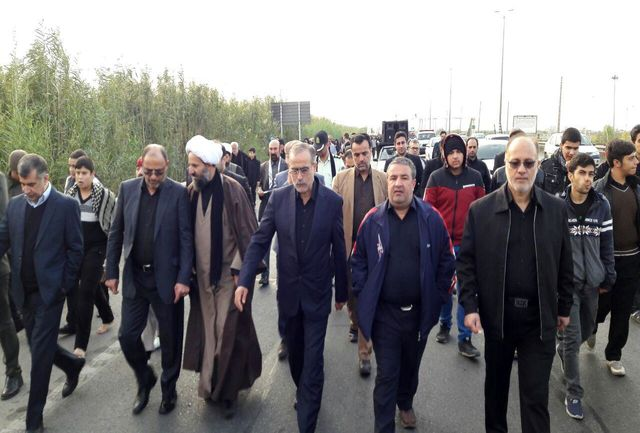 گزارش تصویری راهپیمایی جاماندگان اربعین حسینی شهرستان قرچک