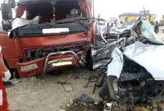 یک کشته و 2 مجروح در پی تصادف پژو 405 با اتوبوس در محور زنجان