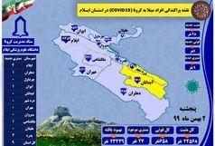 آخرین و جدیدترین آمار کرونایی استان ایلام تا ۲ بهمن ۹۹