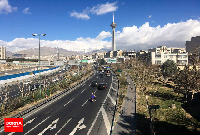 کیفیت هوای تهران در شرایط قابل قبول