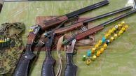 کشف و ضبط چهار قبضه اسلحه قاچاق در شهرستان رودبار