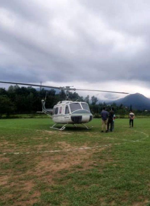 انتقال بانوی 43 ساله توسط بالگرد اورژانس هوایی گیلان به رشت