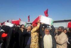 انتقال پیکرهای 72 شهید دفاع مقدس از مرز شلمچه