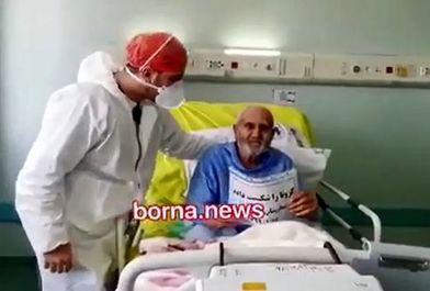 بیمار 100 ساله کرونایی قمی از بیمارستان مرخص شد/ببینید