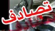 واژگونی وحشتناک خودرو در اتوبان قزوین- تهران