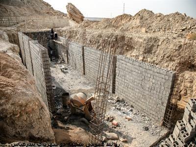 احداث مخزن بتنی ذخیره آب در مجموعه زیارتی و گردشگری پنجه علی