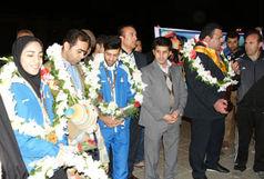 مراسم استقبال از قهرمانان آسیا در ایلام برگزار شد