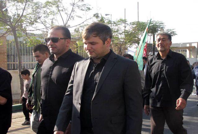 حضور پرشور اهالی شهر کهریزک در کاروان جاماندگان اربعین حسینی، ستودنی است