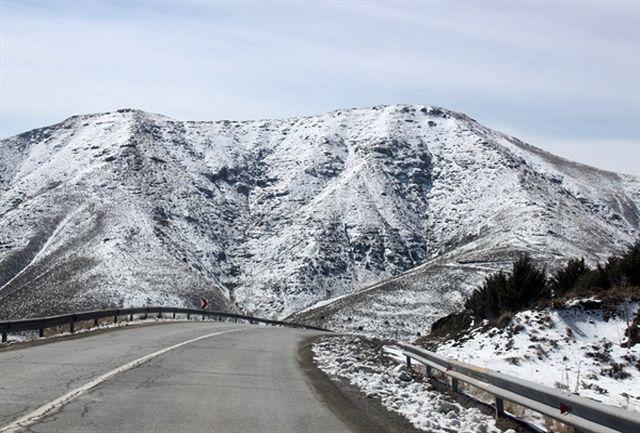 بارش برف ارتفاعات طالقان را سفید پوش کرد