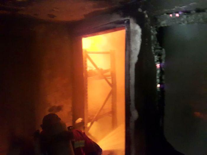 آتش سوزی در ورزشگاه شهید کشوری
