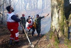 وقوع دو فقره حریق در شهرستان مرزی آستارا/امدادرسانی عوامل امدادی جمعیت هلال احمر در مهار آتش سوزی