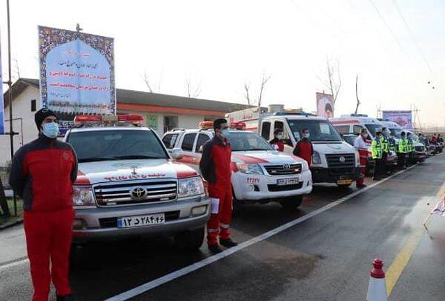 ۷۸ تیم امداد و نجات هلال احمر گیلان به ۶۹ مورد حادثه اعزام شدند