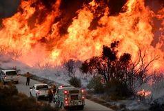انبار کاغذ های بازیافتی دو کوهک در محاصره آتش