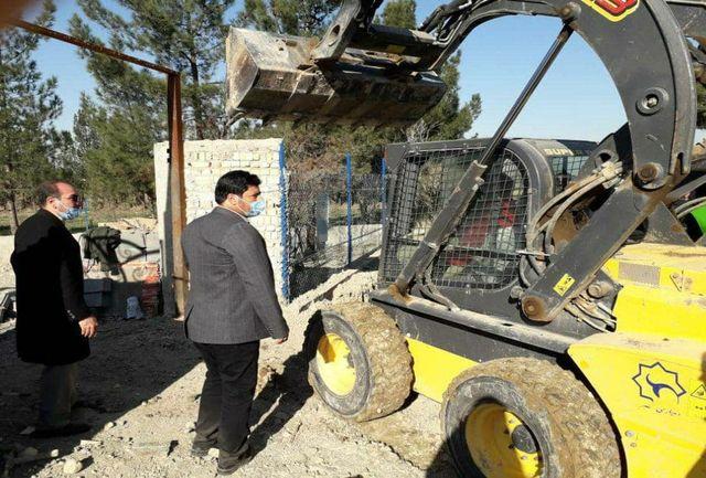 تخریب ۴۲مورد ساخت و ساز غیر مجاز در درسن آباد