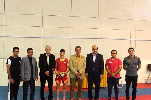 بدرقه علی ظفری ووشوکار ملی پوش استان به مسابقات آسیایی