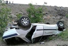 واژگونی پژو پارس با 3 فوتی