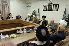 حضور اعضای شورای مرکزی حزب موتلفه اسلامی در جلسه شورای عالی جامعه مدرسین