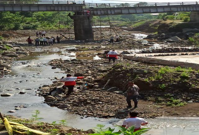 ریزش پل در منطقه لرداسرا بخش رانکوه املش
