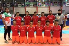 تیم کبدی کردستان در مسابقات لیگ دسته یک حضور پیدا کرد