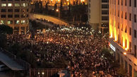 تجمع معترضان در میدان شهدای بیروت آغاز شد