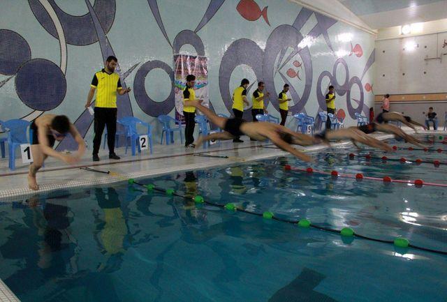 صید مدال های رنگارنگ شناگران استخر مروارید