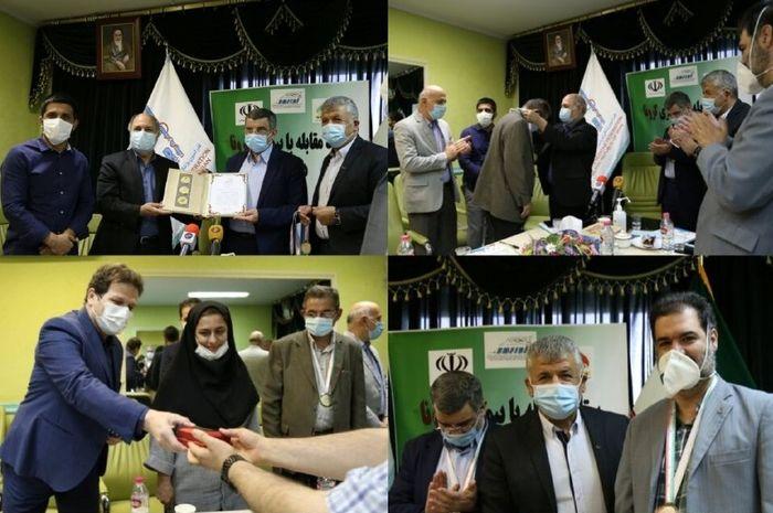 اهدای مدال و لوح قهرمانی از طرف فدراسیون پزشکی ورزشی به مجاهدان سلامت