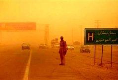 طوفان شن محور «انار - یزد» را مسدود کرد