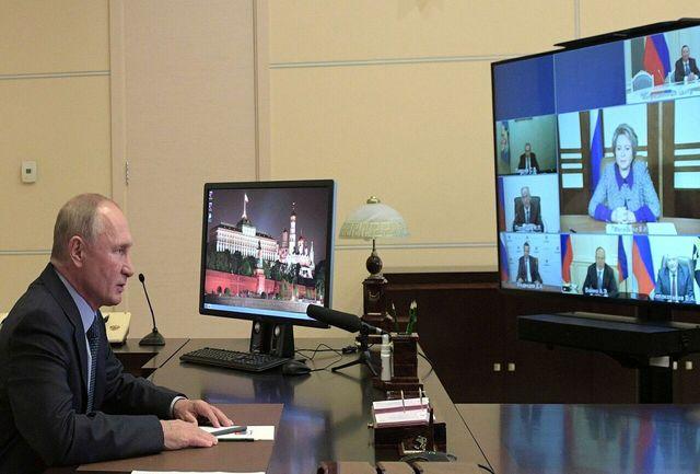 پوتین با اعضای شورای امنیت روسیه درباره مناقشه قرهباغ گفت وگو کرد