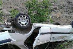 2 کشته و 1 مصدوم حاصل تصادف پژو پارس با گاردریل در جاده هراز