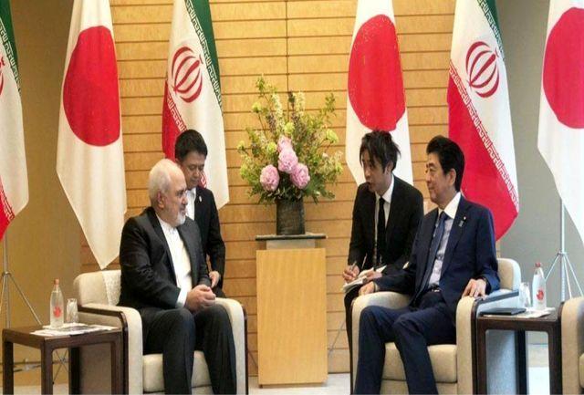 ظریف با نخست وزیر و همتای ژاپنیاش گفتگو کرد