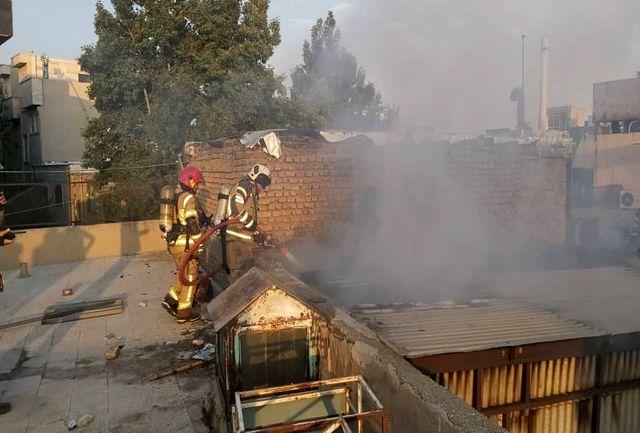 آتش وحشتناک به جان خیابان شوش تهران افتاد