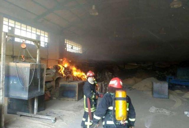 نیروگاه برق بعثت تهران دچار آتش سوزی شد