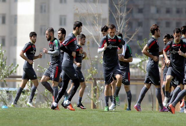 برگزاری تمرین تیم ملی فوتبال در ایتالیا