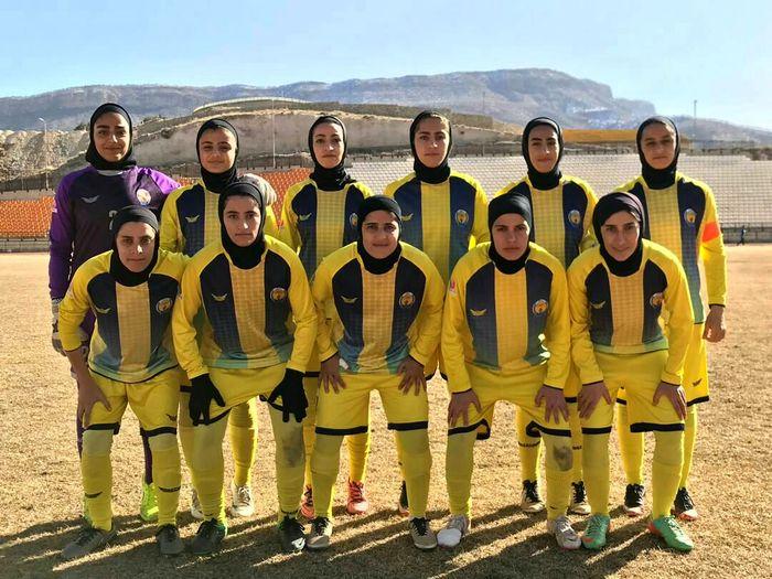 پیروزی تیم فوتبال بانوان پالایش گاز ایلام مقابل سینا بوشهر