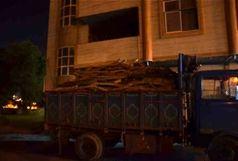 کشف 5 تن چوب جنگلی قاچاق در رودبار