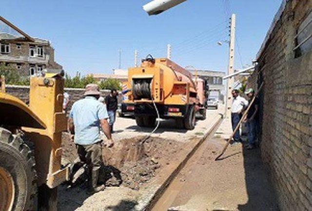 رسوب زدایی خطوط انتقال و شبکه توزیع روستایی با دستگاه واترجت در روستاهای ارومیه
